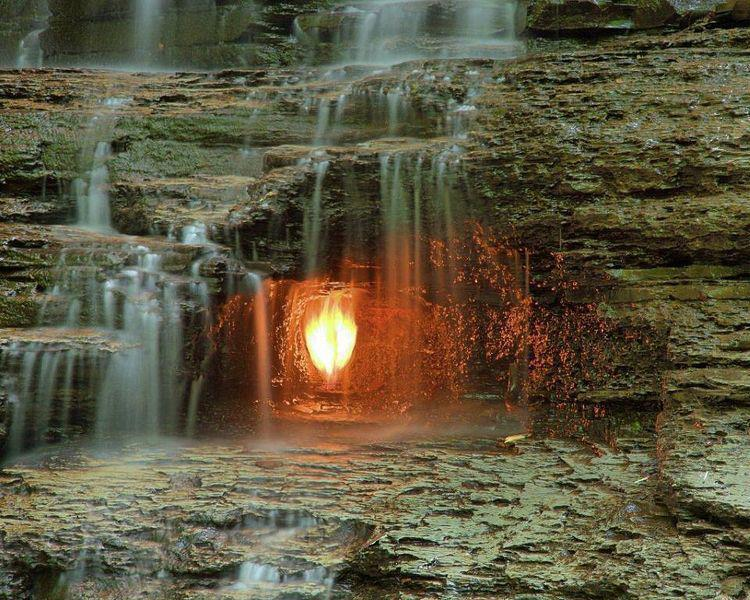 Image result for Eternal Flame Falls, New York, US
