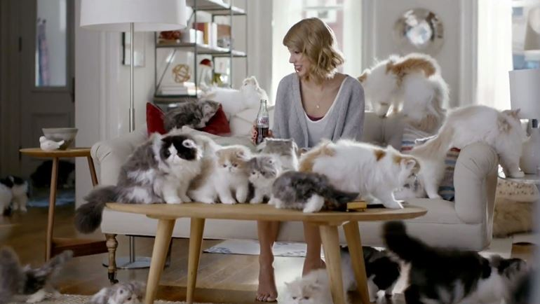 taylor swift cats commercial still